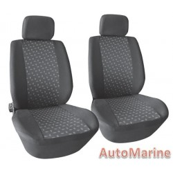 4 Piece Front Seat Cover Set - Grey Seat Cover Set