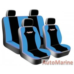 8 Piece West Coast - Blue  Seat Cover Set