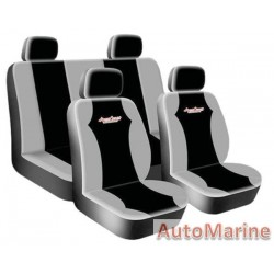 8 Piece WEST COAST -  Grey Seat Cover Set