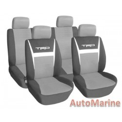 8 Piece TRD - Grey Seat Cover Set