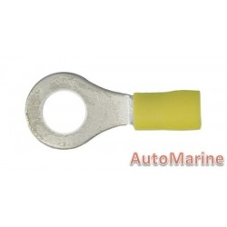Yellow Ring Terminal - 8.4mm - 100 Pieces
