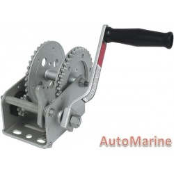 1600LB Hand Winch - Galvanised with Double Gear