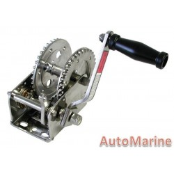 1600LB Hand Winch - Stainless Steel with Double Gear