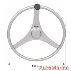 "Steering Wheel 15.5"" - 316 Stainless Steel"