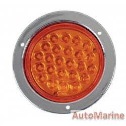 Round LED Amber Trailer Lamp 12 Volt