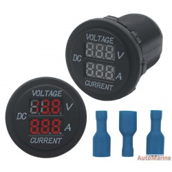 Voltage and Amp Guage - Red Words