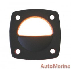 LED Flush Mount Courtesy Light - Black