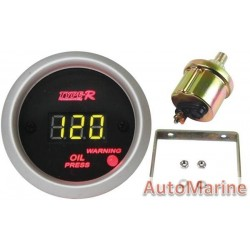 52mm Oil Pressure Gauge - Digital