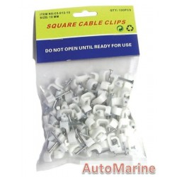 Square Cable Clips - 10mm