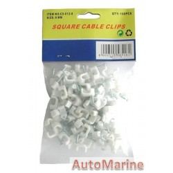 Square Cable Clips - 8mm