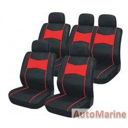 10 Piece SUV Seat Cover Set - Red