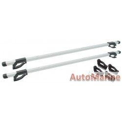 Universal Aluminium Roof Bars that fits on Roof Rails - 120cm Length