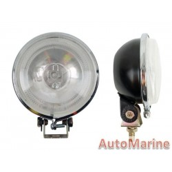 Clear Fog Lamp Set with White LED Surround Ring