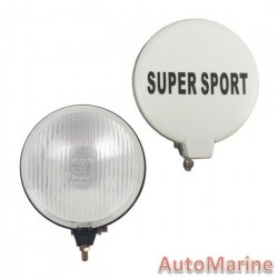 Single Round Spot Lamp with H3 Globe - Clear - 140mm