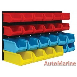 Wall Mounted Storage Rack - 24 Bins