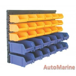Wall Mounted Storage Rack - 30 Bins