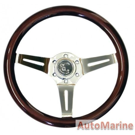 Steering Wheel - Wallnut - 350mm