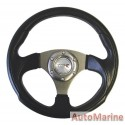 Steering Wheel - Polyeurathane - Dark Grey