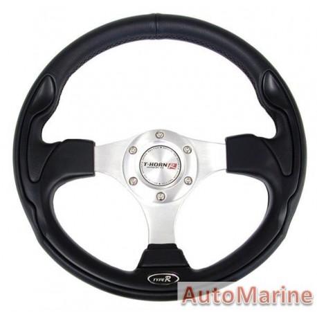 Steering Wheel - PVC - Black