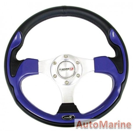 Steering Wheel - PVC - Blue