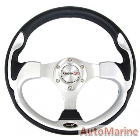 Steering Wheel - PVC - Grey