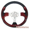 Steering Wheel - PVC - Red