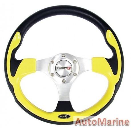 Steering Wheel - Polyeurathane - Yellow