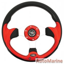 Steering Wheel - Polyeurathane - Red