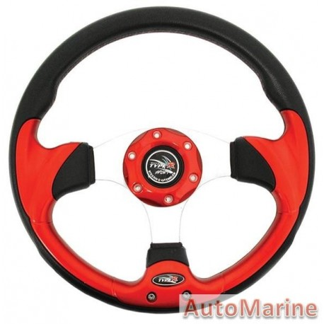 Steering Wheel - Polyeurathane - Red