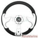 Steering Wheel - Silver and Polyeurathane