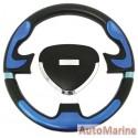 Steering Wheel - Polyeurathane - Blue