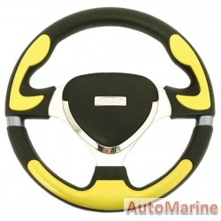 Steering Wheel - Yellow and Polyeurathane