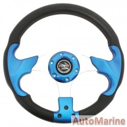 Steering Wheel - Polyeurathane - Blue