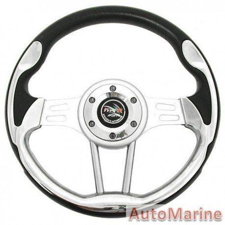 Steering Wheel - Chrome and Polyeurathane