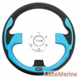 300mm Steering Wheel - Blue