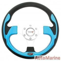300mm Steering Wheel - Blue