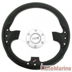 300mm Steering  Wheel - Black