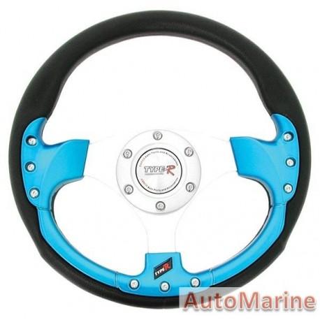 320mm Steering Wheel - Blue