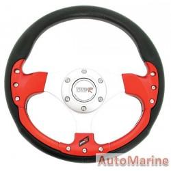300mm Steering Wheel - Red