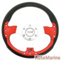 300mm Steering Wheel - Red