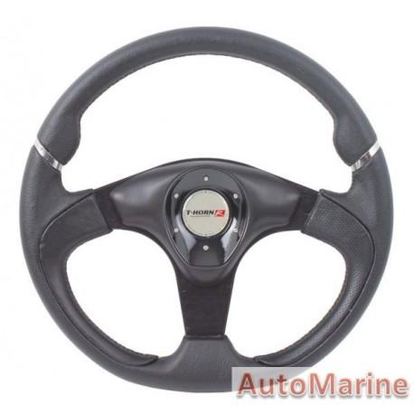 350mm Steering Wheel - PVC - Black