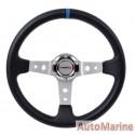 Steering Wheel - PVC - 350mm - Black and Blue