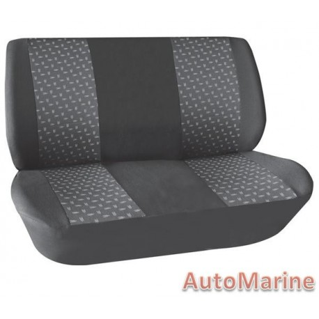 2 Piece Bench Front Seat Cover - Grey Seat Cover Set