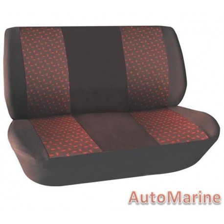 2 Piece Bench Front Seat Cover - Red Seat Cover Set