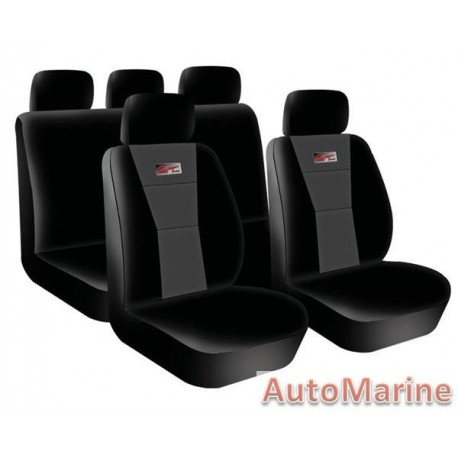 9 Piece GT - Grey Seat Cover Set