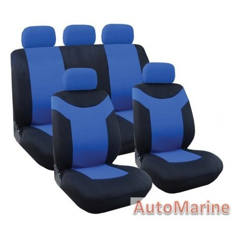 9 Piece Paladin - Blue Seat Cover Set