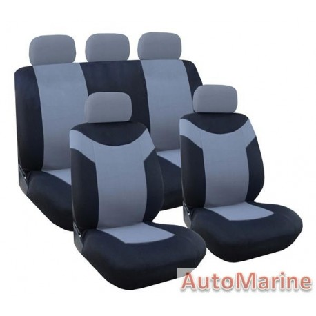 9 Piece Paladin - Grey Seat Cover Set