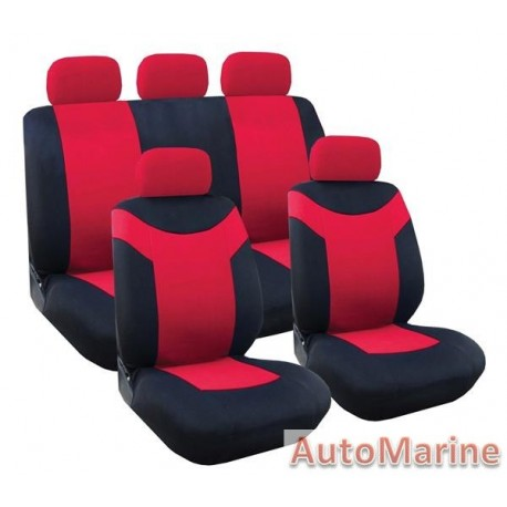 9 Piece Paladin - Red Seat Cover Set