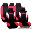 9 Piece Racer - Red Seat Cover Set