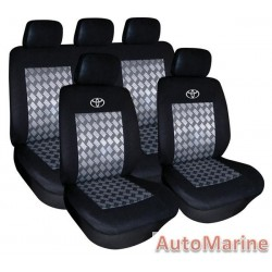 9 Piece Toyota - Black Seat Cover Set